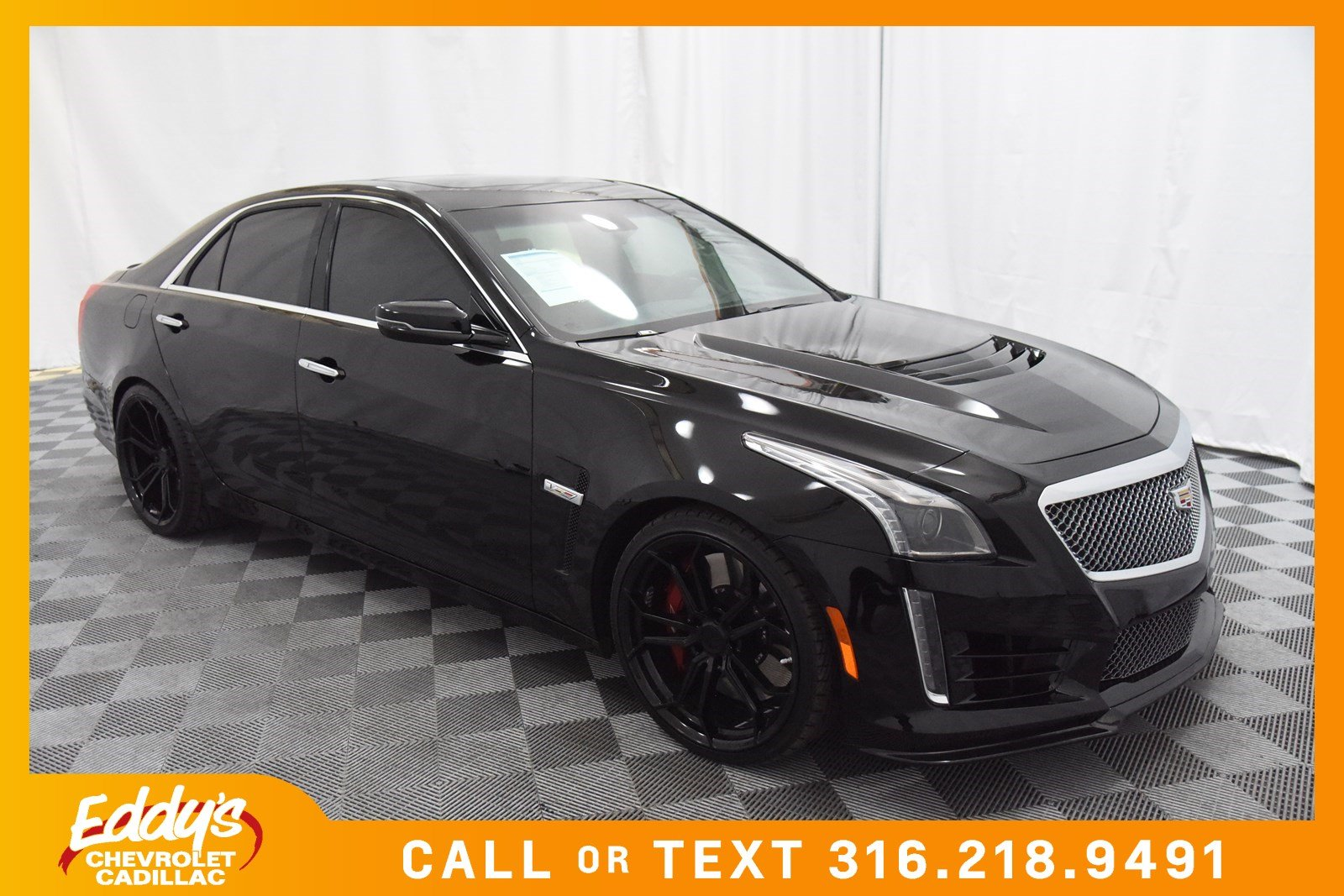 new 2017 cadillac cts v sedan base sedan in wichita cd4926 eddy 39 s chevrolet cadillac. Black Bedroom Furniture Sets. Home Design Ideas