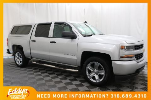 Pre-Owned 2018 Chevrolet Silverado 1500 Crew Cab Custom